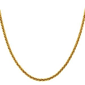 18 karats geelgouden vosstaart collier