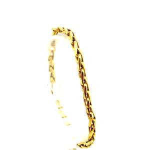 18 karaats geelgouden vossenstaart armband