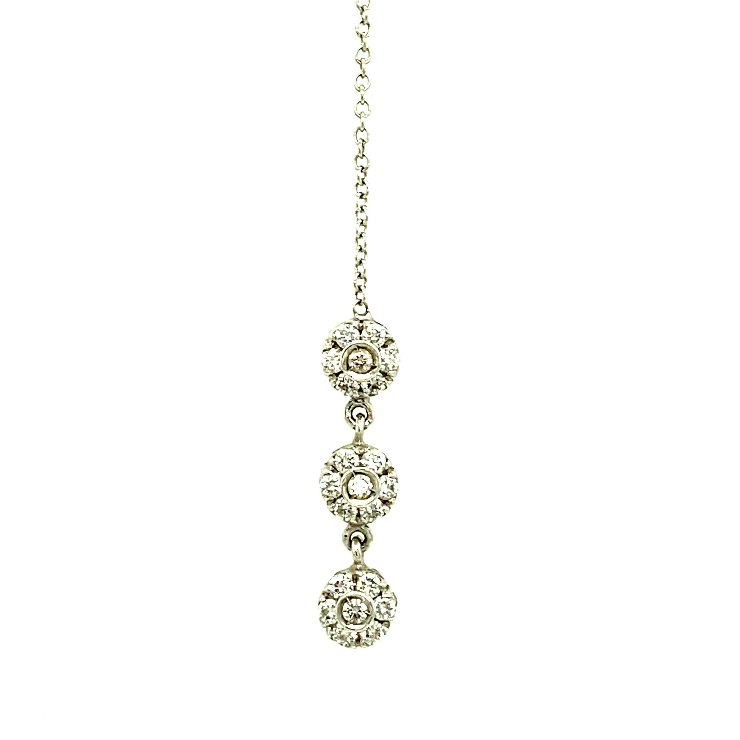 18 karaats witgouden collier met hanger