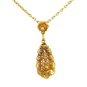 Antiek gouden collier