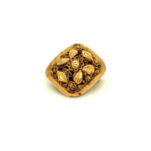 Antiek 18 karaats geelgouden broche