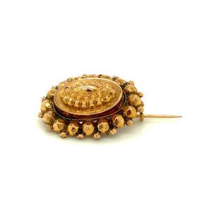 Antiek14 karaats geelgouden broche