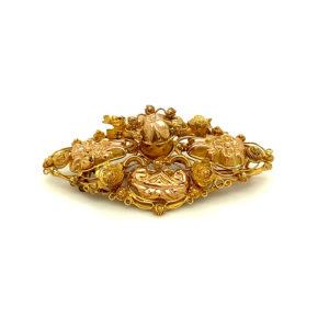 Antiek 14 karaats gouden broche