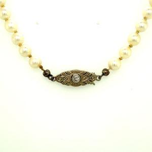 Éénrijig gecultiveerd zoetwater parel collier