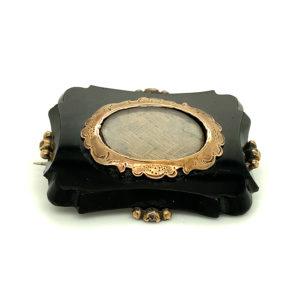 Antieke broche zilver en goud