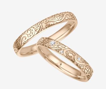 14 karaats roségouden trouwringen Eva