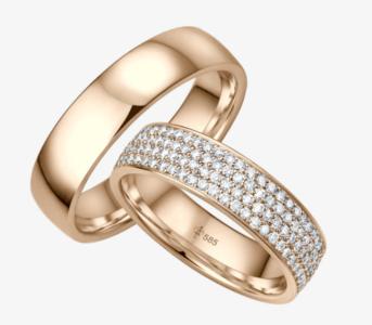14 karaats roségouden trouwringen Manon