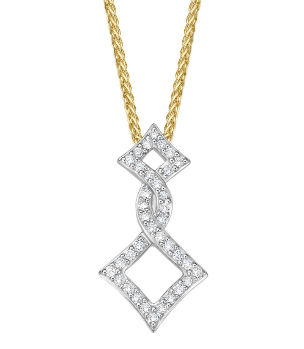 Witgouden collier Diamanti I