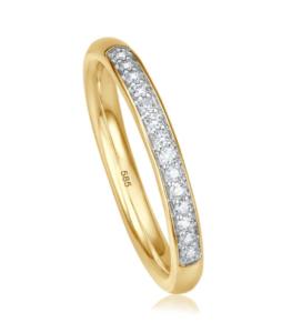 Geelgouden ring Memoire