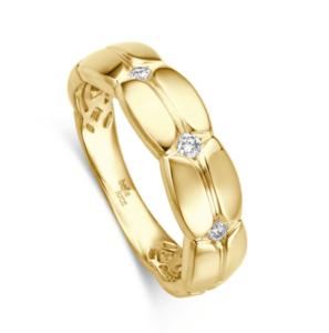 Geelgouden ring Pietra