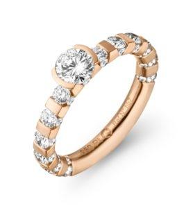 Roségouden Paradoxal ring