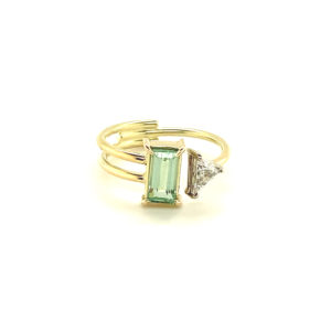 Handgemaakte 14 karaats geelgouden ring