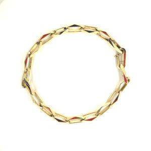 14 karaats geelgouden closed-forever armband