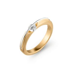 18 karaats geelgouden ring Liberté
