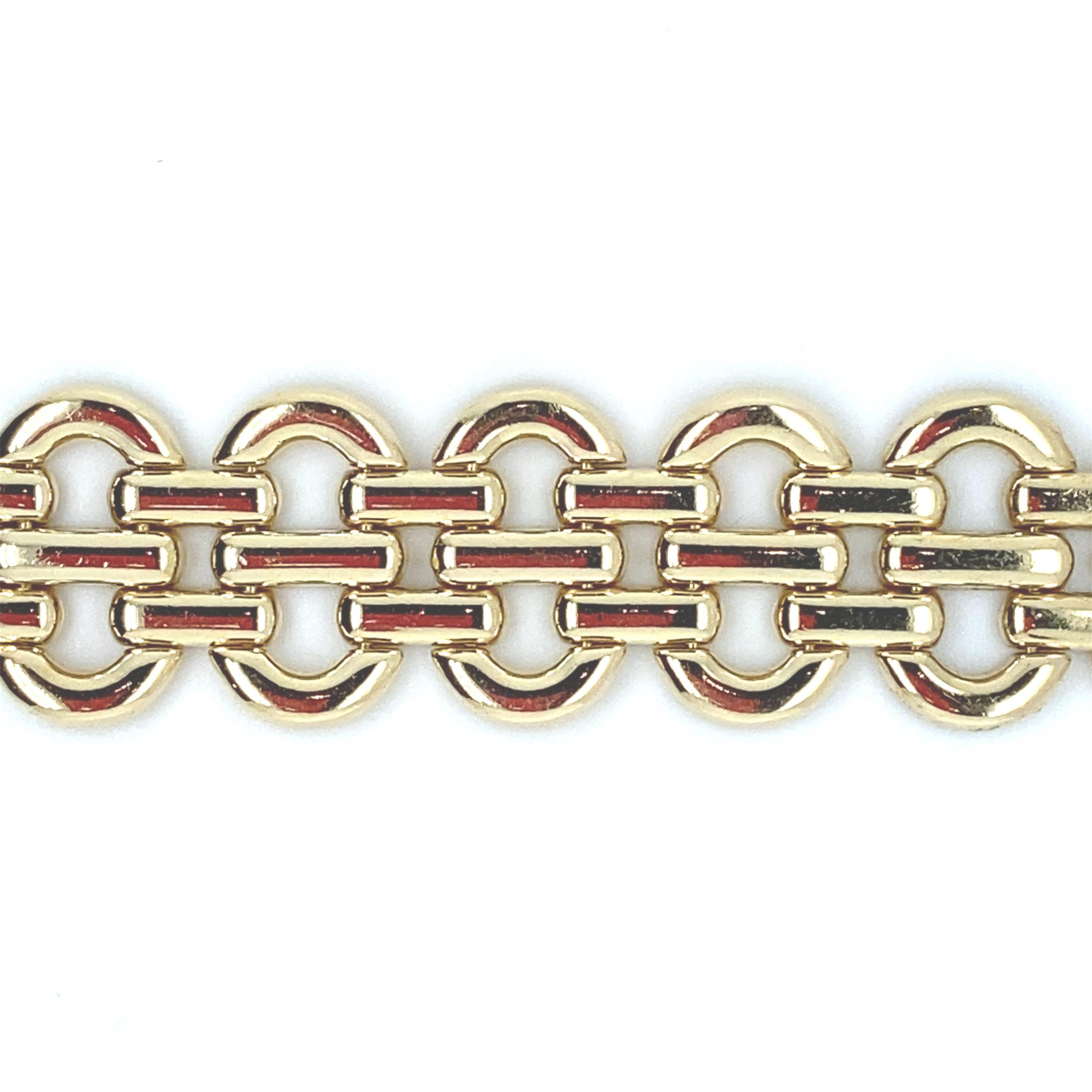 18 karaats geelgouden schakelarmband