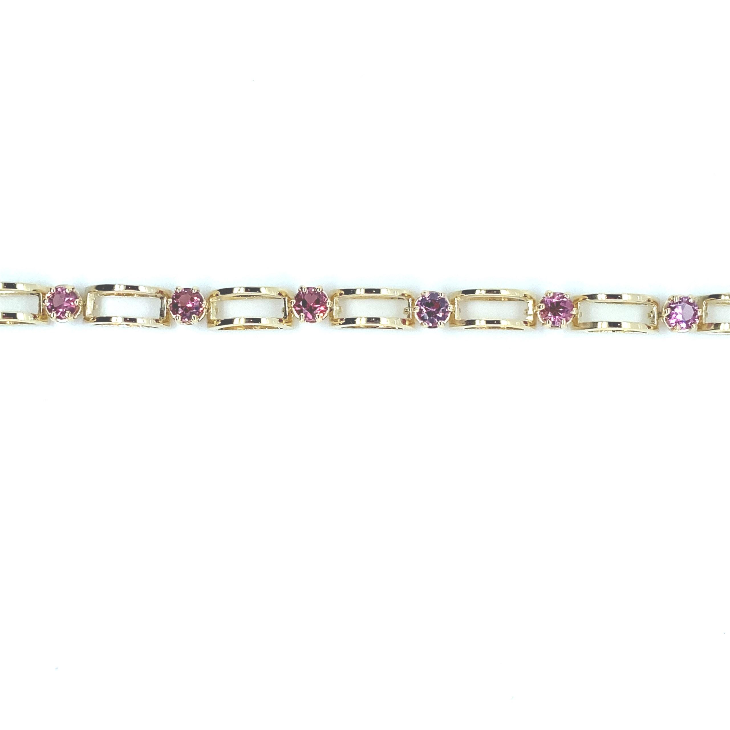 18 karaats geelgouden armband met Spinel