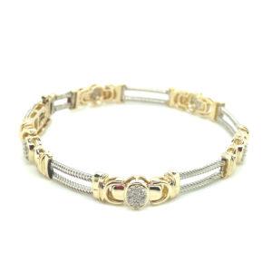 14 karaats bicolor armband met diamanten