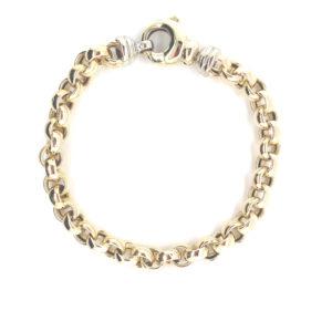 14 karaats geelgouden Jasseron armband