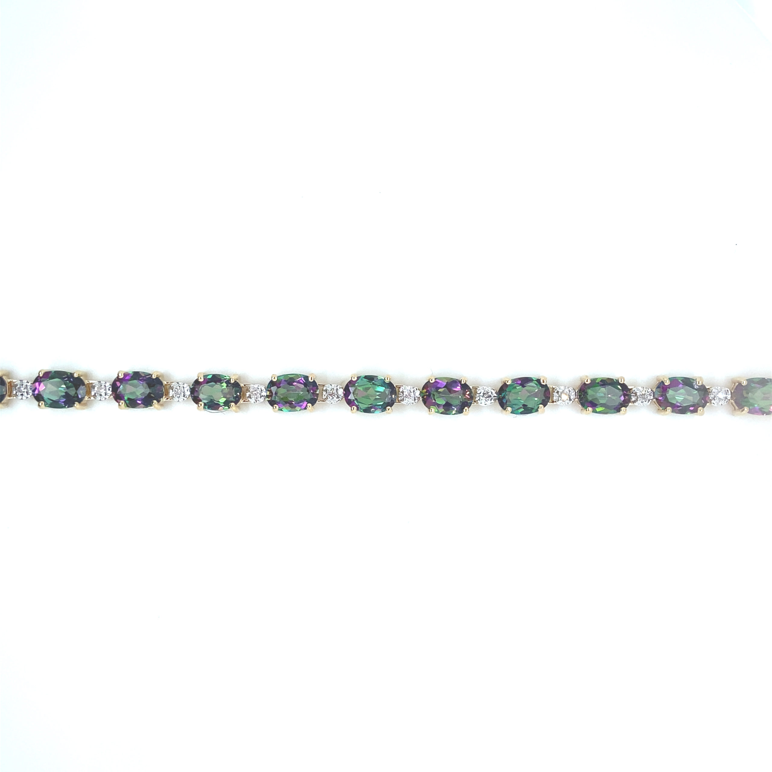 14 karaats geelgouden armband
